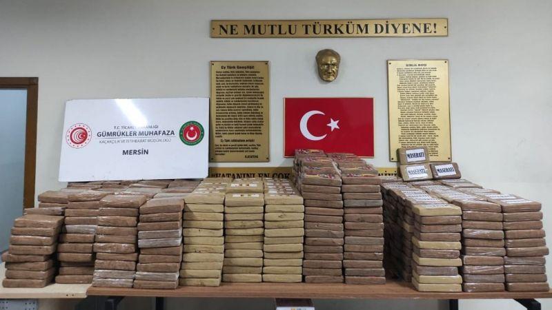 Mersin Limanı'nda tarihin en büyük narkotik madde operasyonu gerçekleştirildi