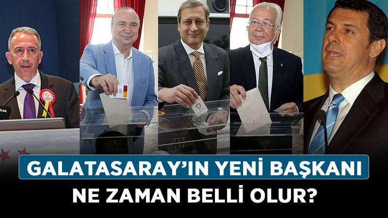 Galatasaray'ın yeni başkanı ne zaman belli olur? Galatasaray başkanlık seçimi ne zaman bitiyor?