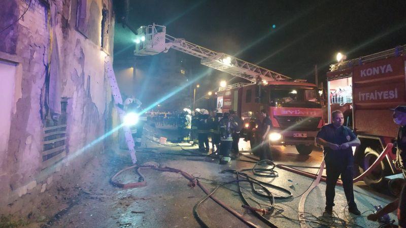 Konya'da Suriyeli ailenin kaldığı evde yangın çıktı: 3 çocuk öldü