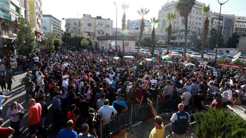 Filistinliler, Batı Şeria'da muhalif aktivistin gözaltında hayatını kaybetmesini protesto etti