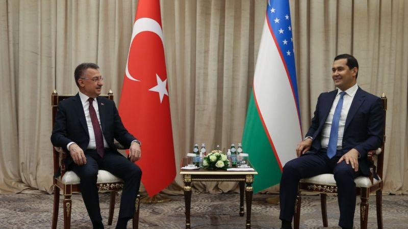 Cumhurbaşkanı Yardımcısı Oktay'dan, Özbekistan ile üst düzey görüşme