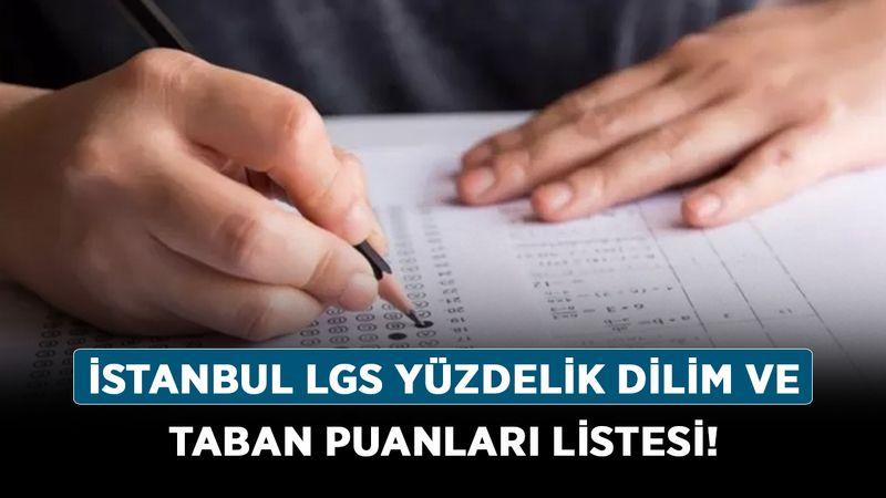 İstanbul Lise puan tabanları kaç, açıklandı mı? İstanbul LGS yüzdelik dilim ve taban puanları listesi!