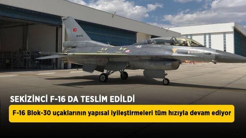 Modernize edilen sekizinci F-16 da Hava Kuvvetleri Komutanlığı'na teslim edildi