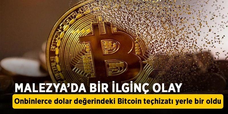 Onbinlerce dolar değerindeki Bitcoin teçhizatı yerle bir oldu