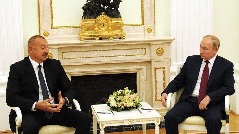 Putin ile Aliyev, bölgesel sorunları görüştü
