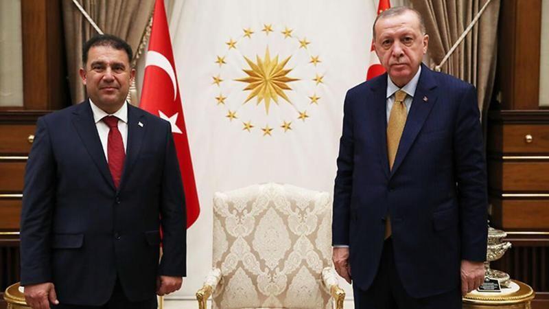 Cumhurbaşkanı Erdoğan, KKTC Başbakanı Saner'i kabul etti