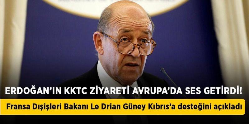 Fransa'dan Güney Kıbrıs'a destek açıklaması