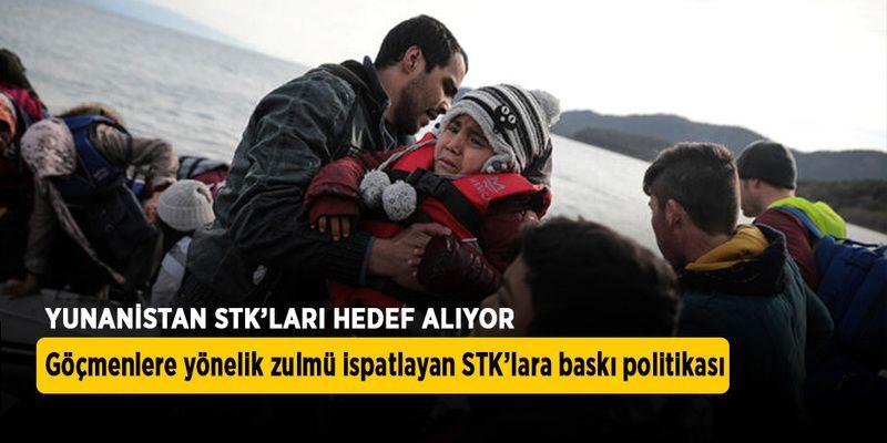 Yunanistan göçmenlere uygulanan zulmü ispatlayan STK'ları hedef alıyor