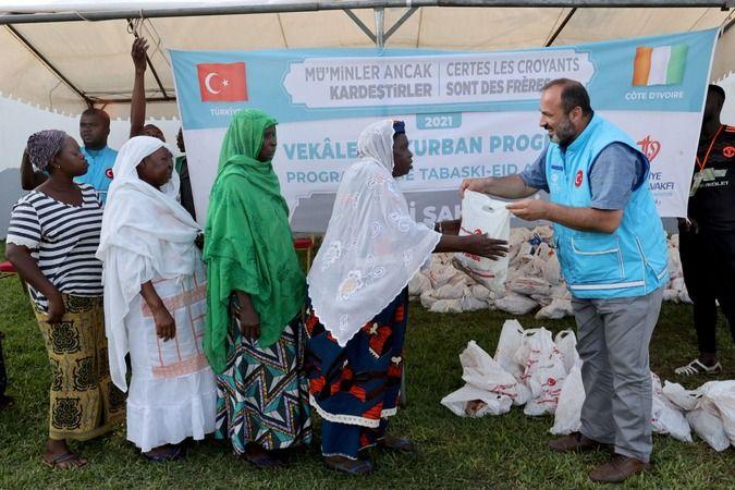 Türkiye Diyanet Vakfı 78 ülkede 24 milyon 449 bin kişiye kurban eti ulaştırdı