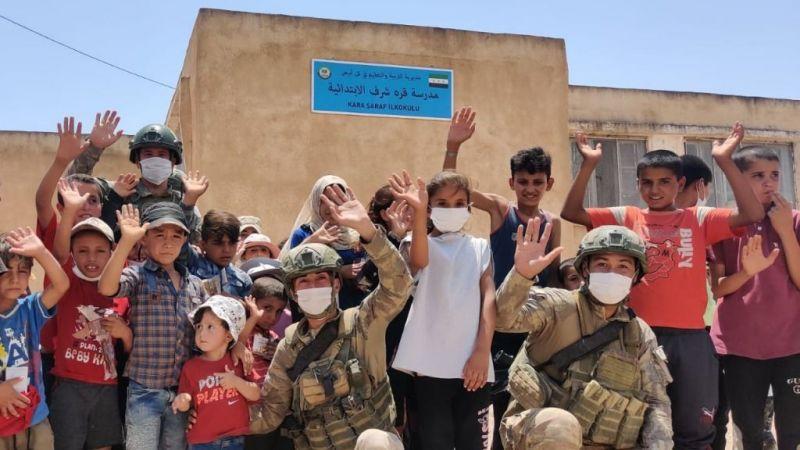 Mehmetçik, Barış Pınarı bölgesindeki yardım faaliyetlerine devam ediyor