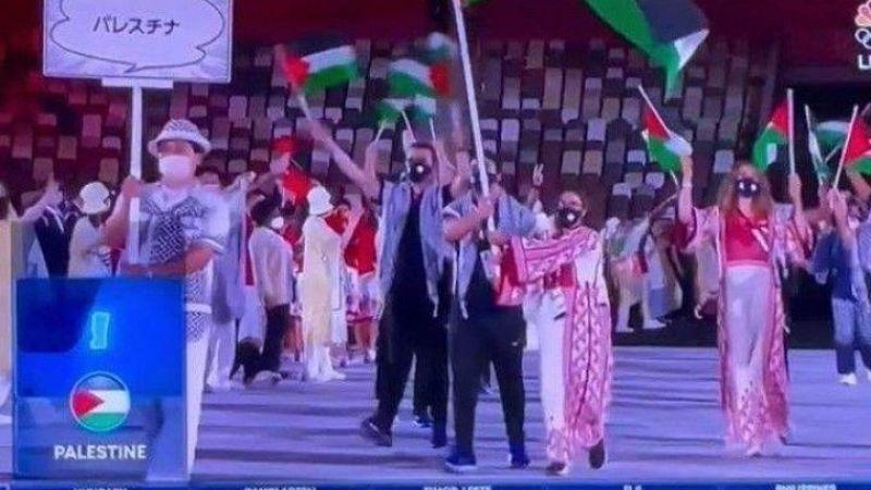 Tokyo Olimpiyatları'nda skandal Filistin yayını!