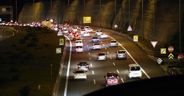 Bolu Dağı Tüneli'nden 865 bin araç geçti