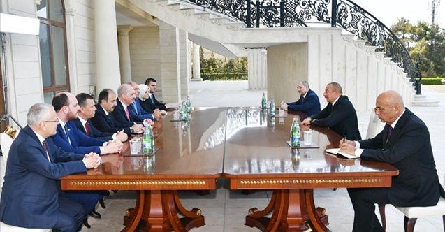 İlham Aliyev AK Parti heyetini kabul etti