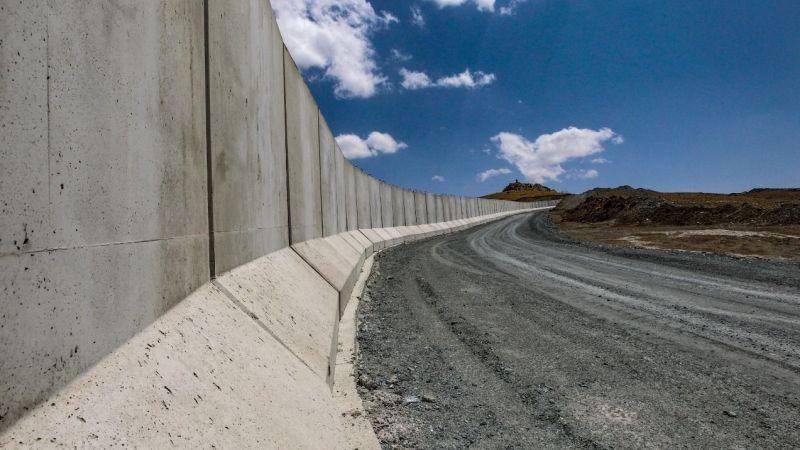 Van'ın İran sınırına modüler duvar