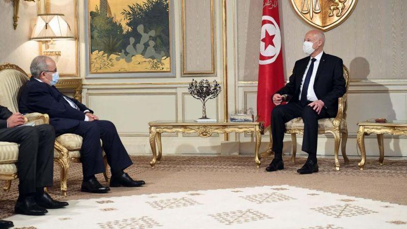 Tunus'ta Cumhurbaşkanı Said, Cezayir Dışişleri Bakanı ile görüştü