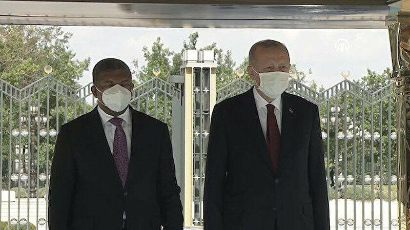 Angola Cumhurbaşkanı Türkiye'de! Cumhurbaşkanı Erdoğan  resmi törenle karşıladı