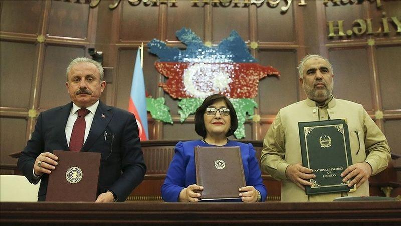 Azerbaycan-Pakistan-Türkiye Meclis Başkanları Bakü Beyannamesi'ni imzaladı