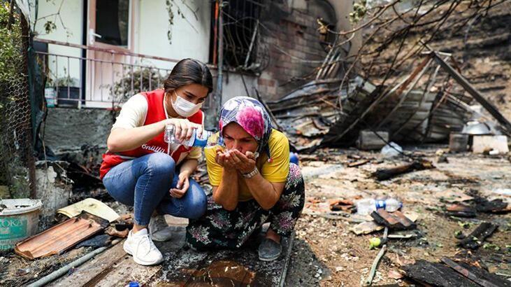 Kızılay'dan orman yangınlarından etkilenenlere destek