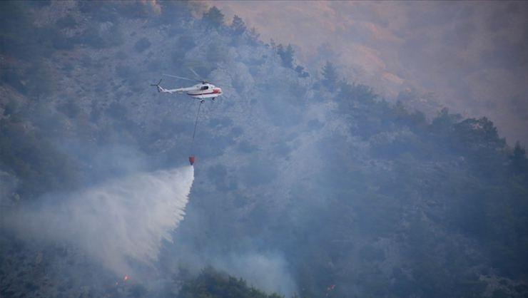 Muğla'nın Milas ilçesindeki orman yangını kontrol altına alındı