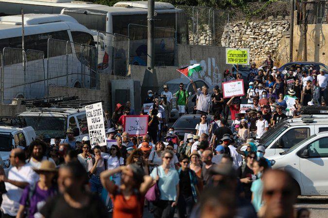Şeyh Cerrah'ta işgalci İsrail'e protesto