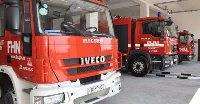Azerbaycan 53 itfaiye aracı gönderdi