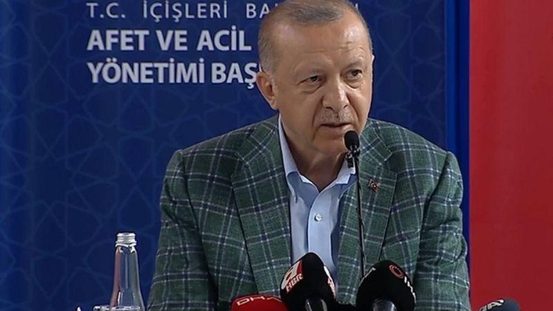 Cumhurbaşkanı Erdoğan: Afet bölgesine 50 milyon lira ödenek gönderildi