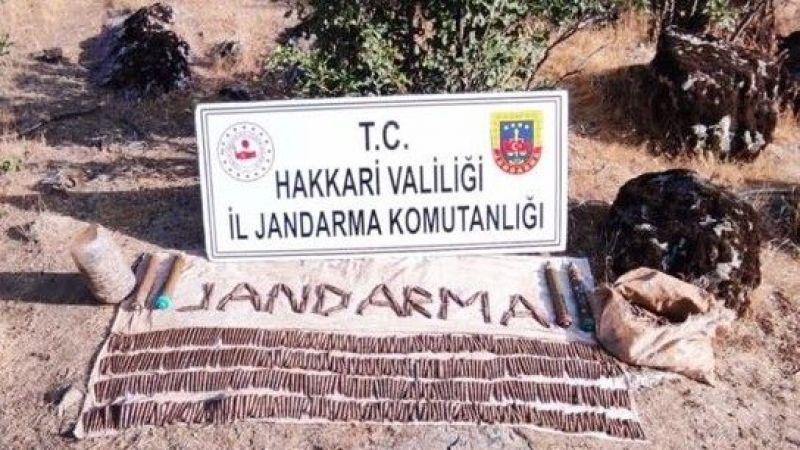 Şemdinli'de terör örgütü PKK'ya yönelik operasyonda arazide mühimmat bulundu