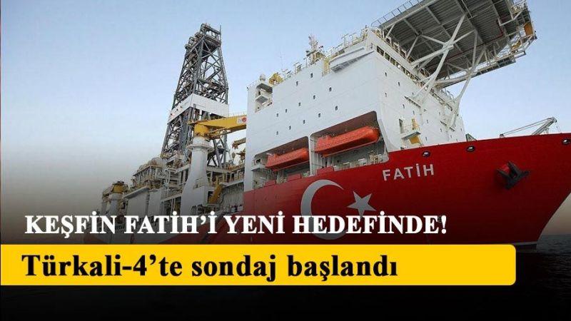 Fatih sondaj gemisi, Türkali-4'te yeni sondaja başladı