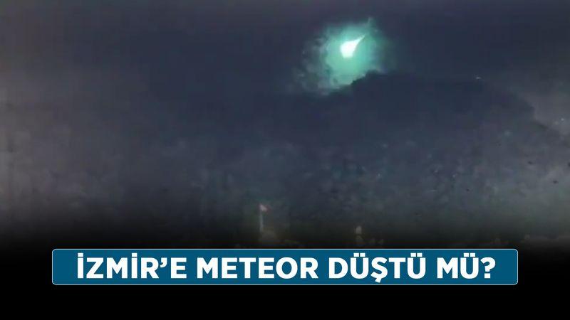 İzmir'e meteor düştü mü? Meteor nereye, hangi bölgeye düştü?