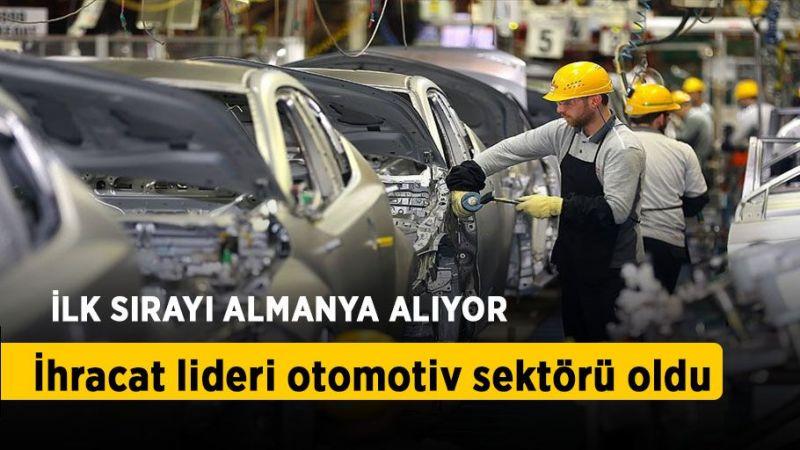 Temmuz ayında ihracat lideri otomotiv sektörü oldu
