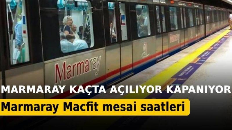 Marmaray Mesai Saatleri: Kaçta Açılıyor, Kapanıyor?