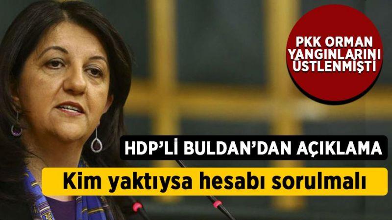 HDP'li Pervin Buldan'dan yangın açıklaması: Kim yaktıysa hesabı sorulmalı