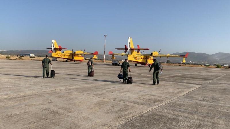 İspanya'dan Muğla'ya gelen 2 yangın söndürme uçağı faaliyetlerine başladı