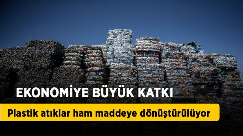 Plastik atıklar geri dönüşümle çoğu sektöre fayda sağlıyor
