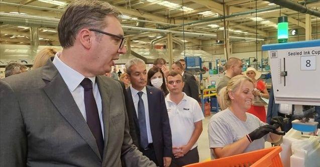 Sırbistan Cumhurbaşkanı Vucic'den Türk firmasına ziyaret