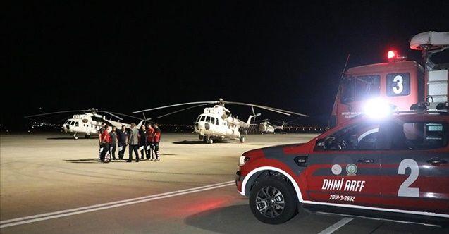 Ukrayna'dan gelen 5 helikopter Isparta'ya ulaştı