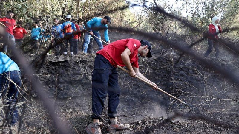 Antalya'daki yangın söndürme çalışmalarına Suriye Arama Kurtarma ekibi de katkı sağlıyor
