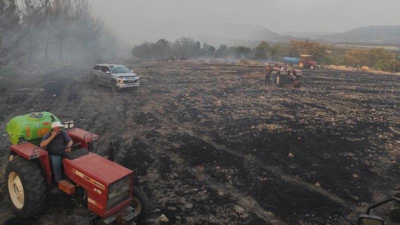 Manisa'nın Demirci ilçesinde çıkan orman yangını kontrol altına alındı