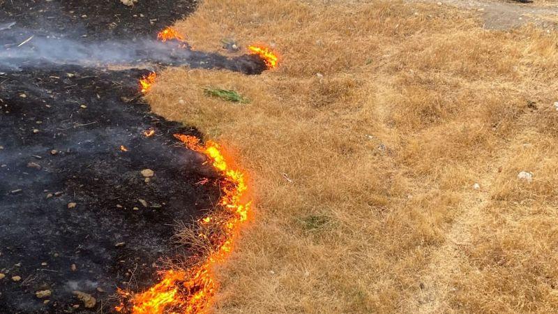 Kahramanmaraş'ta çıkan anız yangını kontrol altına alındı