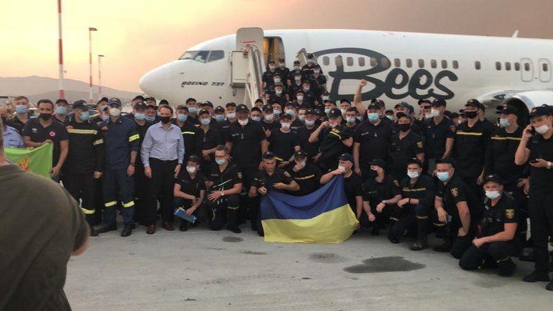 Ukrayna, yangınla mücadele için Yunanistan'a 100 itfaiyeci gönderdi