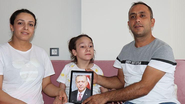 12 yaşındaki Yaren Coşkun, Cumhurbaşkanı Erdoğan sayesinde hayaline kavuştu