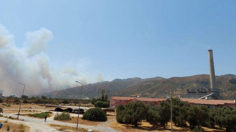 Termik santralde tehlikeli bekleyiş: Milas'ta yangın devam ediyor