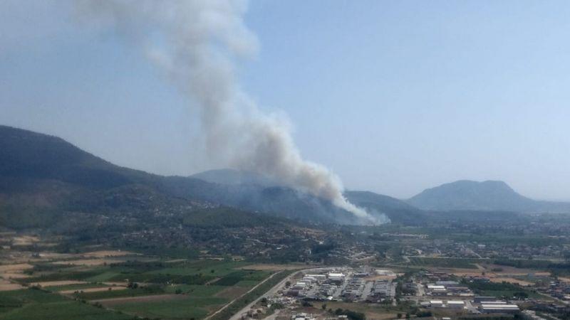 Muğla'da Havalimanı yakınlarında  çıkan yangın kontrol altına alındı