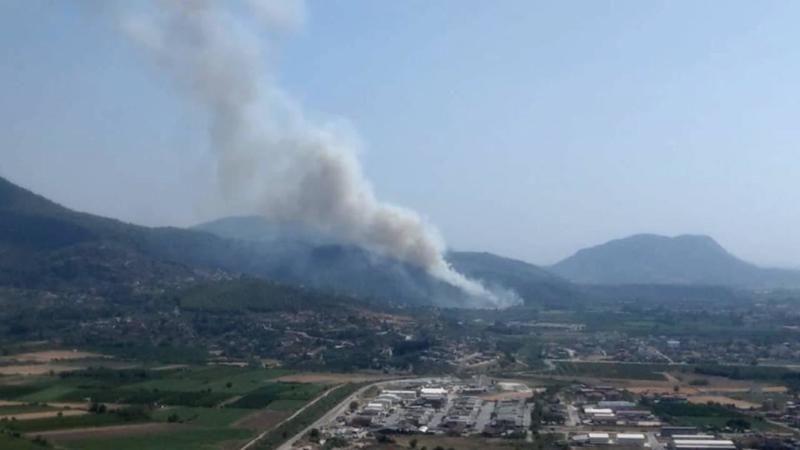 Muğla Dalaman Havalimanı yakınında yangın!