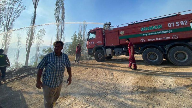 Antalya'nın Kaş ilçesinde yangın çıktı