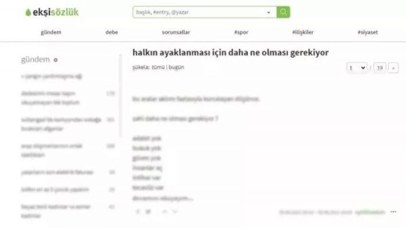 Ekşi Sözlük'ten çirkin provokasyon: Türkiye İsrail'in eyaleti olsun, halk ayaklansın