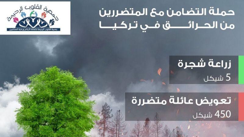 Filistinliler, yangınlar nedeniyle Türkiye'yle dayanışma kampanyası başlattı