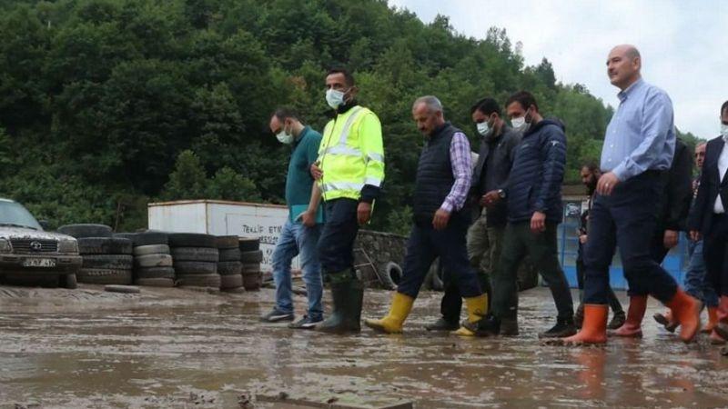Bakan Soylu'dan Karadeniz'deki sellerle ilgili açıklama
