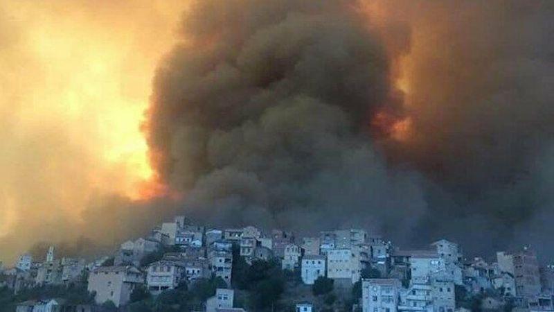 Cezayir'de 16 kentte çıkan 92 orman yangınına müdahale sürüyor