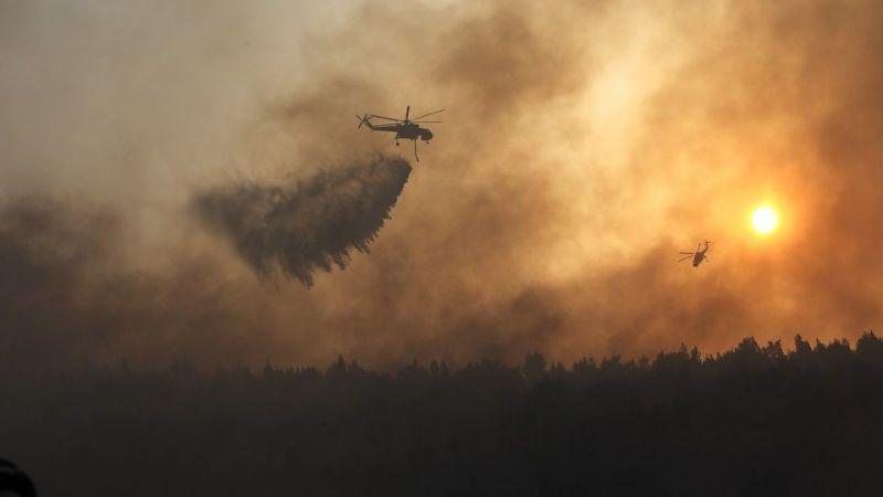 Yunanistan'da yangınlar sürüyor: 750 bin dönüm ormanlık alan kül oldu!